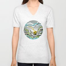 When the Earth meets the Sky Unisex V-Neck
