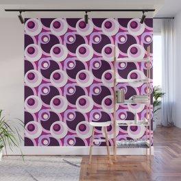 Summer of love cross-eyed circles pattern Wall Mural