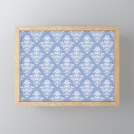 Damask Pattern | Serenity | Pantone Color of the Year 2016 Framed Mini Art Print