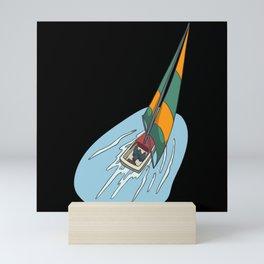 Sailing boats in a race Mini Art Print