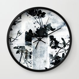 Monochrome Tiles Wall Clock