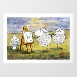 Quantum Sheep Art Print