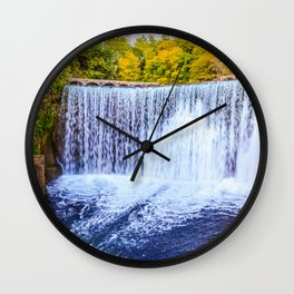 Monk's waterfall Wall Clock