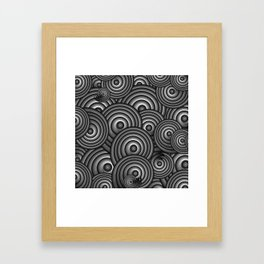 Charcoal Swirls Framed Art Print