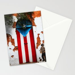 PUERTO RICO FLAG DOOR Stationery Cards