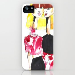 Bleached twins iPhone Case