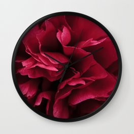 Pink Peony flower Wall Clock