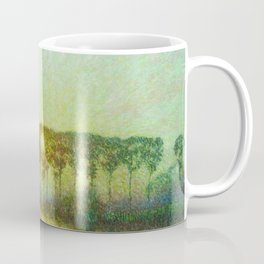 Sunset on the Lys landscape painting by Emile Claus Coffee Mug
