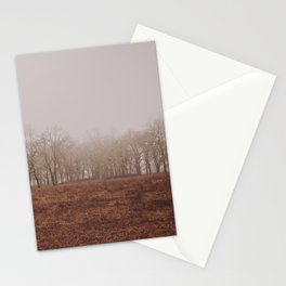 Foggy Trail to the Trees Stationery Cards