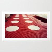 polka dot Art Prints featuring Polka dot by Losal Jsk