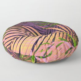 TROPICAL COLORFUL POPPY LEAVES Floor Pillow