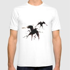 On your fears,  ... swallow them.   White MEDIUM Mens Fitted Tee