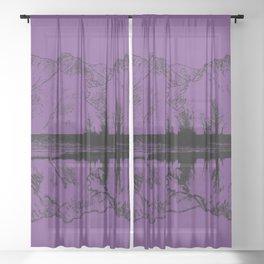 Knik River Mts. Pop Art - 2 Sheer Curtain