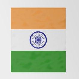 India: Indian Flag Throw Blanket
