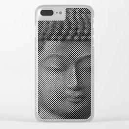 Buddha Face Statue Clear iPhone Case