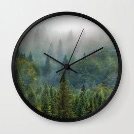 Misty Forest Beauty Wall Clock