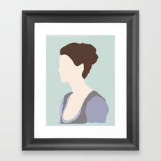 Claire Fraser Variant Framed Art Print