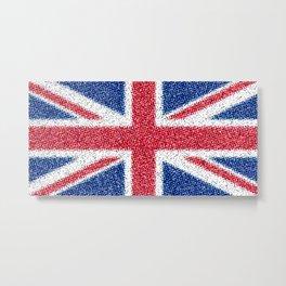 Union Jack Distorted Metal Print