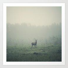 Mamma moose Art Print