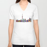 toronto V-neck T-shirts featuring Toronto by bri.buckley