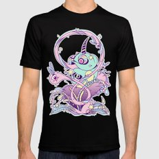 Fantasy Chameleon Mens Fitted Tee Black SMALL