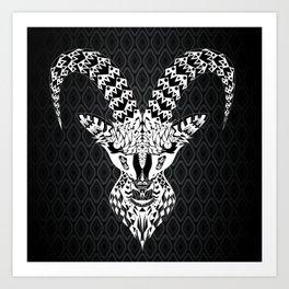 black goat ecopop Art Print