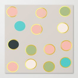 gold and tutti fruit polka dots Canvas Print