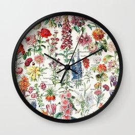Adolphe Millot - Fleurs pour tous - French vintage poster Wall Clock