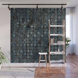 gray dots Wall Mural