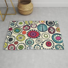 Honolulu hoops cream Rug