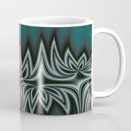 Fractal Tribal Art in Pacific Teal Coffee Mug