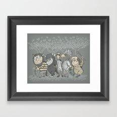The Mild Rumpus Framed Art Print