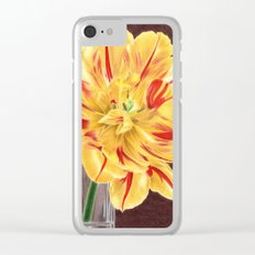 Tinge of Red Clear iPhone Case