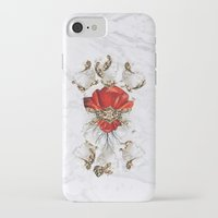 roman iPhone & iPod Cases featuring Roman Marble by Eleaxart