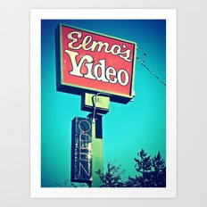 Elmo's Video Art Print