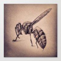 bee Canvas Prints featuring Bee by Werk of Art