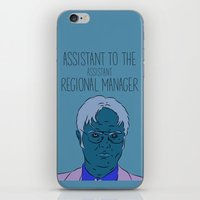 dwight schrute iPhone & iPod Skins featuring Dwight Schrute by The Two Pens