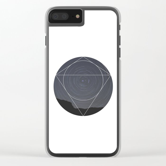 Spinning Universe - Geometric Photography Clear iPhone Case