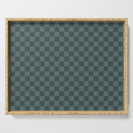 Checkerboard Pattern Inspired By Night Watch PPG1145-7 & Juniper Berry Green PPG1145-6 Serving Tray