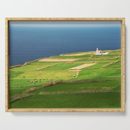 Pastures and lighthouse Serving Tray