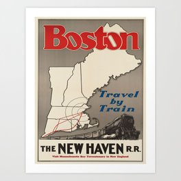 Vintage poster - Boston Art Print
