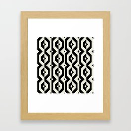 Modern bold print with diamond shapes Framed Art Print
