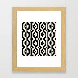 Modern bold print with diamond shapes Framed Art Print