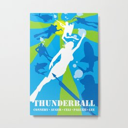 James Bond Golden Era Series :: Thunderball Metal Print
