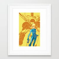 samus Framed Art Prints featuring Samus  by Andrew Sebastian Kwan