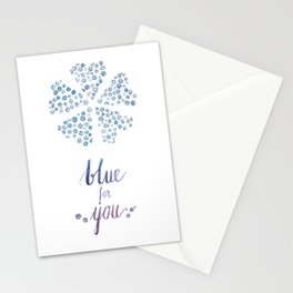 Blue for you / Forget-me-nots / / Valentine's Day Card Stationery Cards