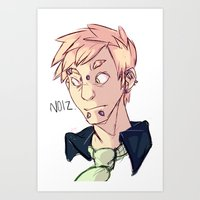 dramatical murder Art Prints featuring Dramatical Murder: Noiz by Laura Mansfield