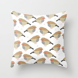 The finches Throw Pillow
