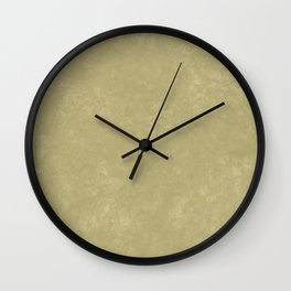 Pistachio-colored suede Wall Clock