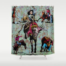 Rodeo Events Shower Curtain